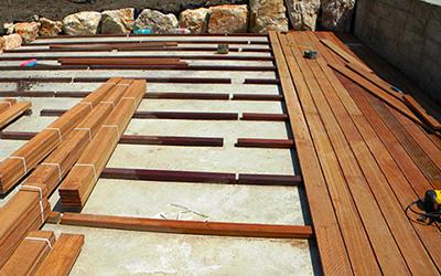 Монтаж террасы из дерева