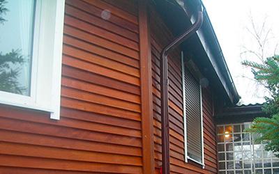 Обшивка фасада деревом от 450 грн/м2
